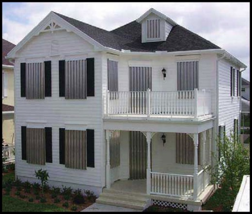 Image: Accordian Storm Panels from Florida Hurricane SHutters (floridahurricaneshutter.com)