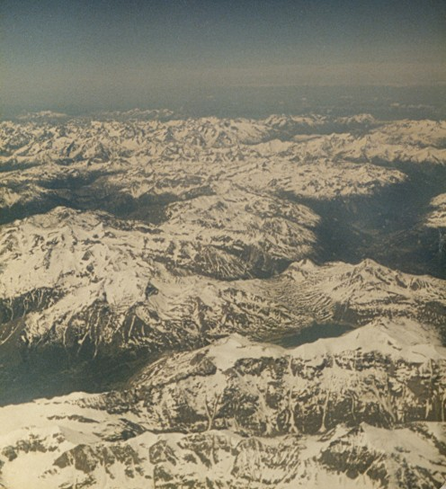 The Alps From A Plane - Copyright Tricia Mason