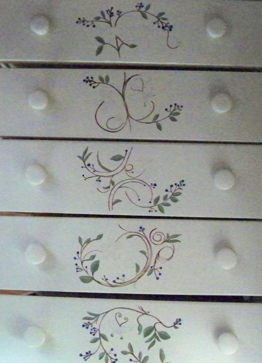 The fun part is the decorative painting.