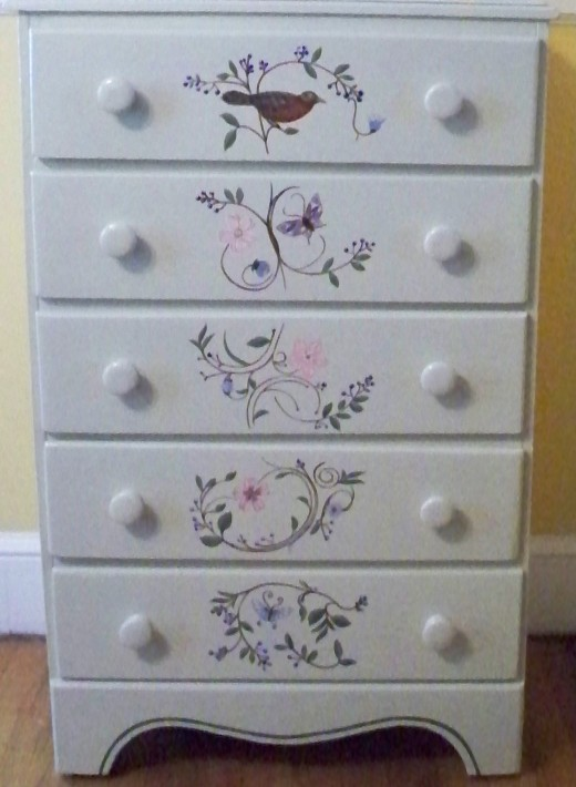 Paint a dresser to make it useful and add beauty to your home.