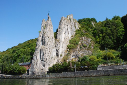 Dinant: the right bank of the Meuse; the Bayard Rock