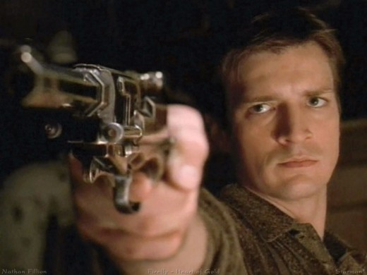 Captain Malcolm Reynolds played by Nathan Fillion