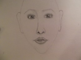 Evaluate the face and make changes as needed.  This face needs a fuller jaw and less pointed chin..