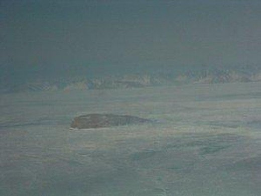 Hans Island in Winter