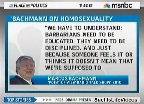 Marcus Bachmann on homosexuals (MN)