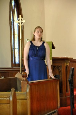 """In July 2011, I performed J.L. Hatton's """"The Enchantress"""" at my mother's wedding."""