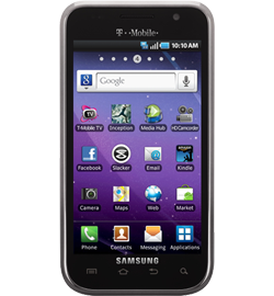 """Samsung Galaxy S 4G, relatively average """"4G"""" Android phone"""