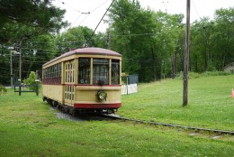 Trolley at the CT Trolley Museum Photo: Edward M. Fielding