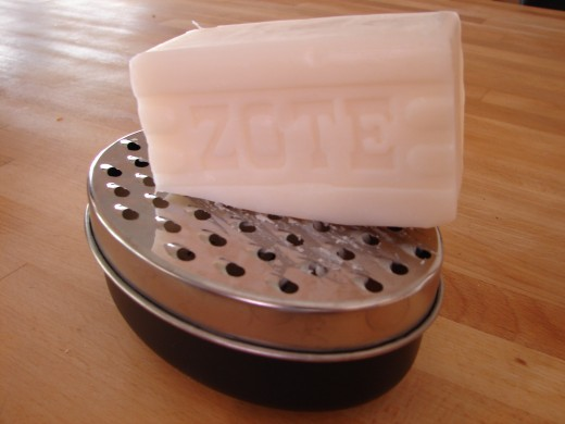 Grate the soap like cheese - It's easy!