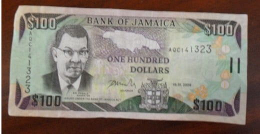 our one hundred dollar note