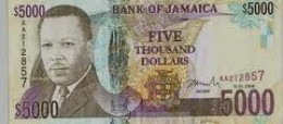 our five thousand dollar note