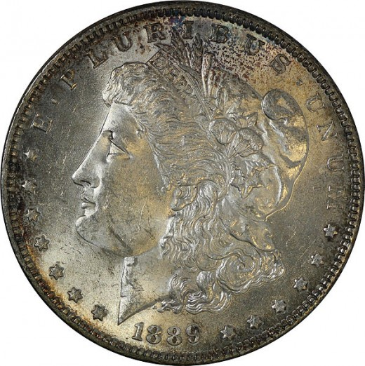 The front of the Morgan Silver Dollar