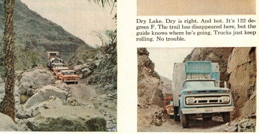 These pics are from a 1962 magazine showing the road in typical fashion.