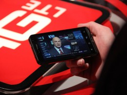 LG Revolution in action, streaming video over 4G LTE network