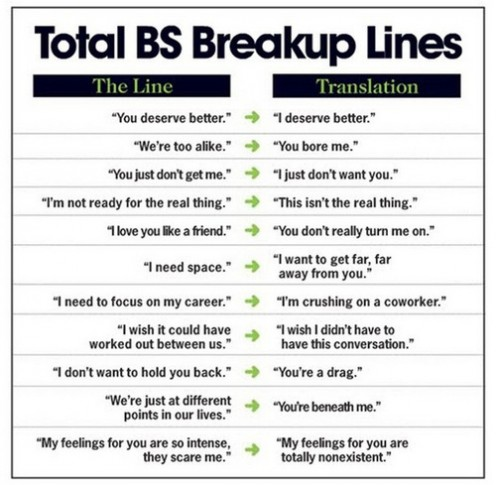 Don't use these lines, convince her to end it with you!