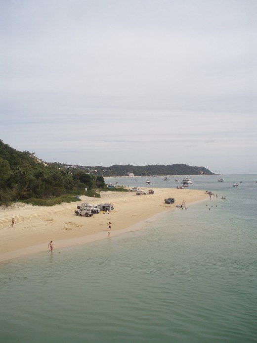 Moreton Island landing beach at low tide