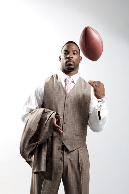 NEW YORK - MARCH 11: Justin Tuck of the New York Giants poses for a portrait on March 11, 2009 in New York City, New York. (Photo by Nick Laham/Getty Images)