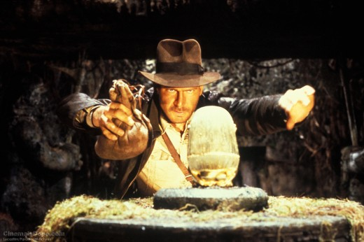Indiana Jones as we first see him in the film, fedora already in place, about to steal a priceless relic whilst unleashing all manner of lethal boobytraps