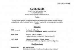advice on how to write a curriculum vitae cv
