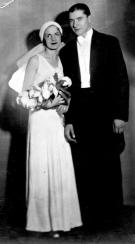 Your Grandmas vintage dress can be dressed up just for you! Title: My grandmother and grandfather on their wedding day ~ Attribution License ~ Photographer: peregrine blue