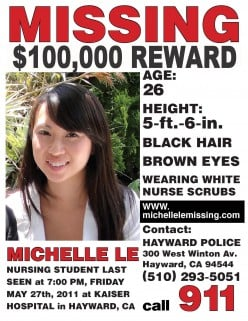 The Story of Kidnapped Nurse Michelle Le from Hayward Kaiser, Ca.