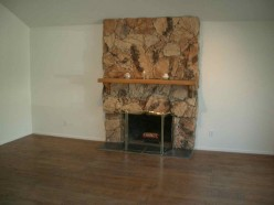 An Outdated Fireplace