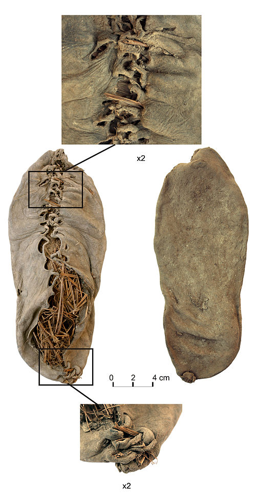 The oldest shoe in the world, found 2010 in a cave in Armenia (looks very similar to my slippers!)