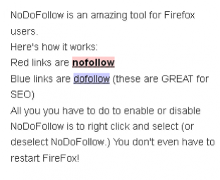 NoDoFollow in action