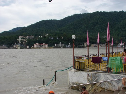 A view of Rishikesh from Swarg Ashram