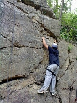 Rock climbing in Rishikesh