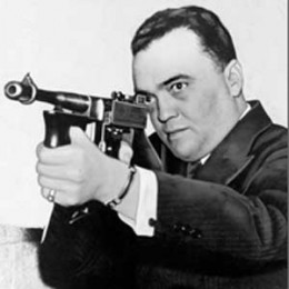 J. Edgar Hoover in a characteristically flamboyant pose