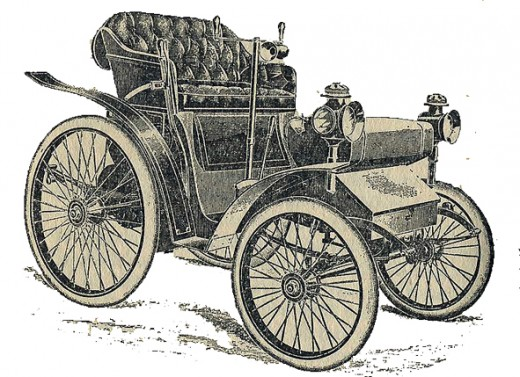 The 4 h.p. Peugeot which competed in the Paris-Marseilles Race of 1896