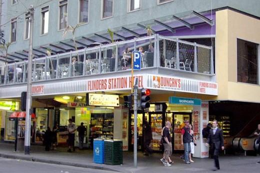 Duncan's bottle shop below The Joint Bar, Melbourne