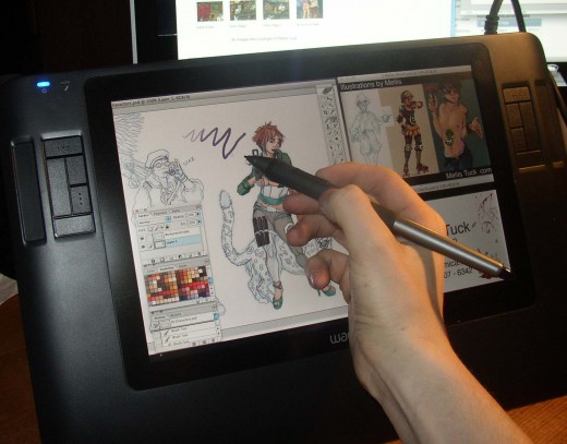 Even this smaller tablet is amazing to create on.