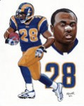 Faulk is 10th in rushing with 12,279 yards for the Colts and Rams and won the 2000 Super Bowl with St. Louis. A prime receiver out of the backfield, Faulk was the 2000 NFL MVP.