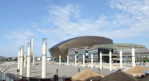 Roald Dahl Plass in Cardiff, the location of the Torchwood Institute in Wales