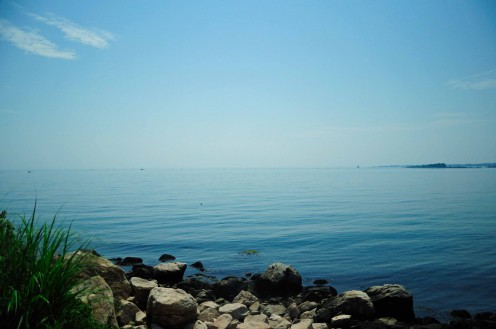 Long Island Sound from the Bluff