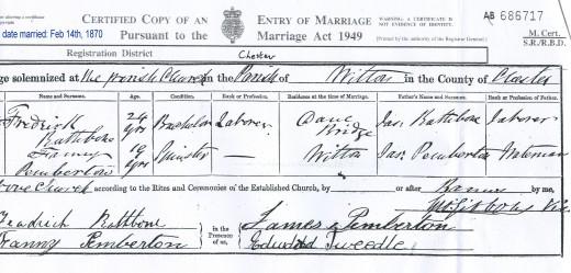 Sarah Rathbone's parents were Frederick Rathbone and Fanny Pemberton.