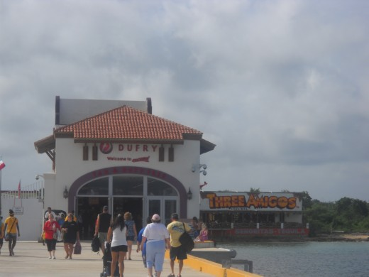 Entering the Port area of Cozumel