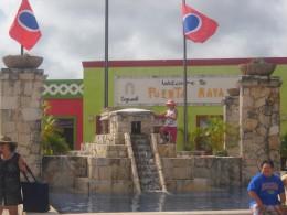 Replica of Mayan temple in the Port area