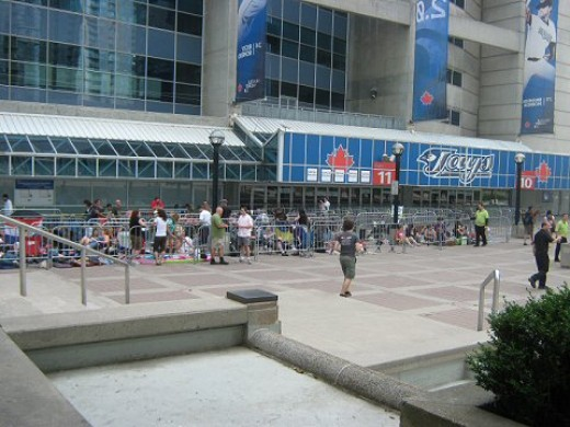 Part of the GA line in front of the Rogers Centre