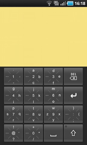 Tap'n'Swipe looks and behaves like a normal tap slider keyboard, just as expected.