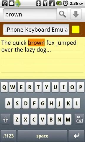 iPhone Keyboard Emulator (free)