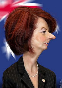 Jullia Gillard PM of Australia- oh the shame! Source: flickr.com