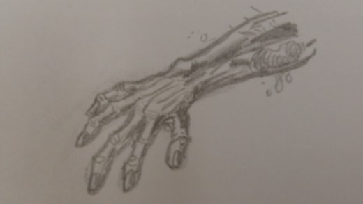 Finished Zombie hand.
