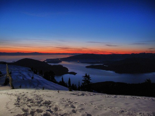 Beautiful Cypress Mountain Sunset