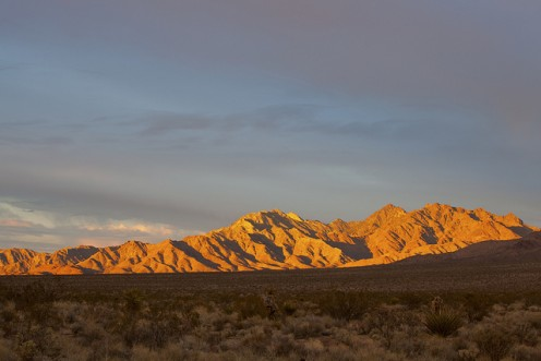 Providence Mountains at Sunset, Mojave Desert, California