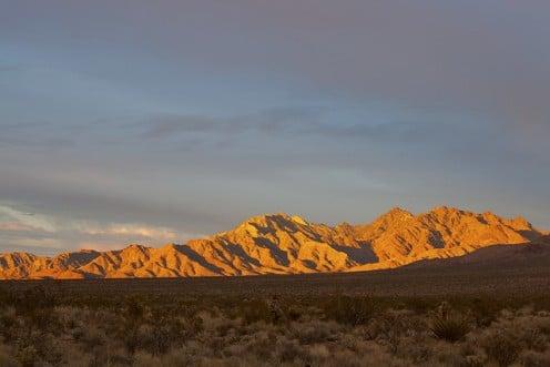 Providence Mountains at Sunset, Mojave Desert, California