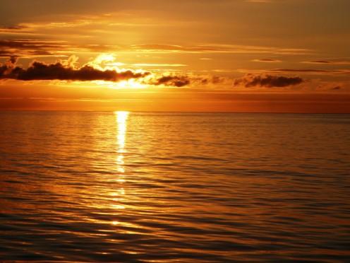 Beautiful Ocean sunset moment