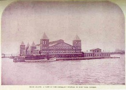 First Ellis Island Immigration Station in New York Harbor. Opened January 2, 1892. Completely destroyed by fire on 15 June 1897.